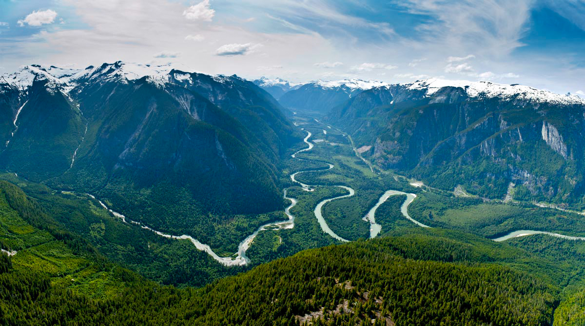 the toba river valley watershed, protected by Wilderness International in partnership with Campbell River Whale Watching and Adventure Tours