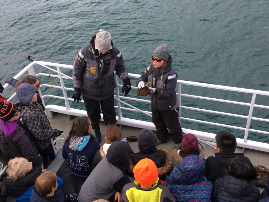 photo contributed by Eagle Wing Tours of an on-board classroom education session