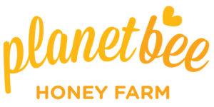 planet bee honey farm logo
