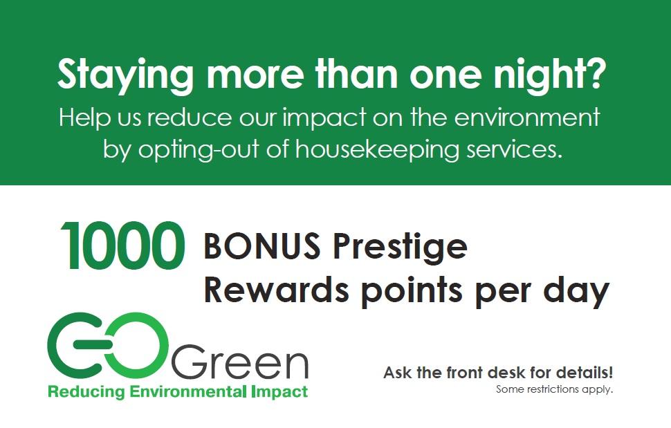 Prestige Hotels and Resorts Go Green voucher